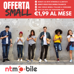NTMOBILE SMALL 1.99EU 50 MINUTI 1GB