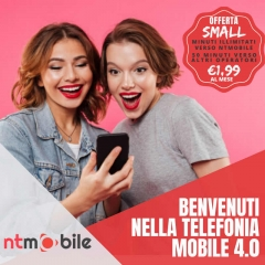 NTMOBILE SMALL 1GB 50分钟意大利 1.99每月