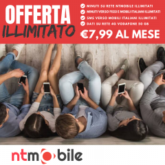 NTMOBILE ILLIMITATO 7.99EU MINUTI E SMS ILLIMITATI